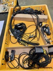 KEYENCE Lot of digital fiber optic sensors