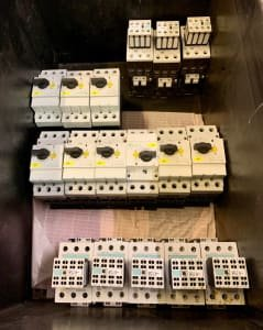 Lot of contactors and motor protection switches