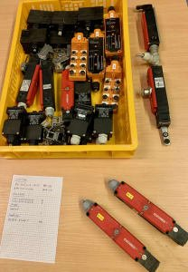 Lot of magnetic safety switches, etc.
