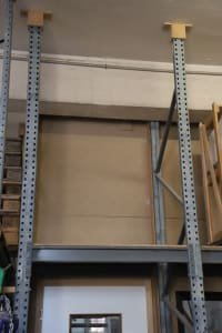 Heavy duty shelf without content