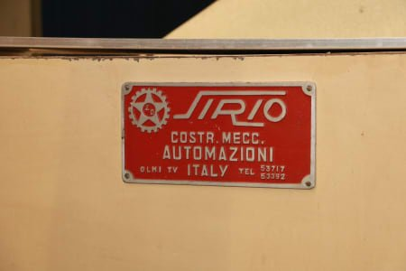 SIRIO 700 IR IR Drying Tunnel