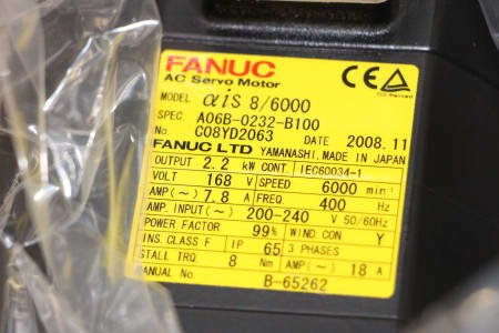 FANUC A06B-0232-B100 Motor