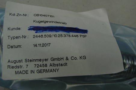 PMI 2446./10.25.378.446 P5P Screws (x6)
