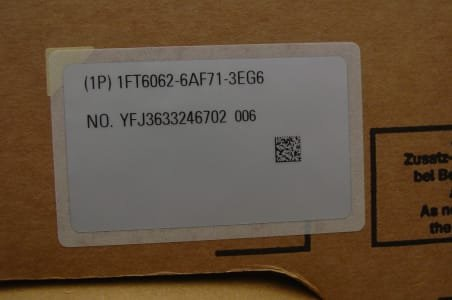 SIEMENS 1FT 6062-6AF71-3EG6 Motor (x4)