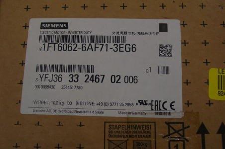 SIEMENS 1FT 6062-6AF71-3EG6 Motor (x2)