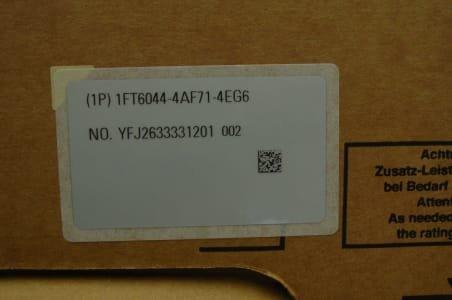 SIEMENS 1FT 6044-4AF71-4EG6 Motor (x3)