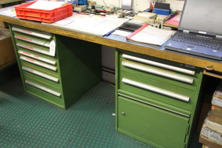 Workbench with Drawer Cabinets