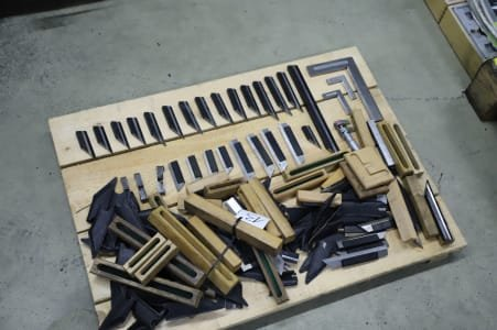 Lot of Knife-Edge Squares and Straightedges