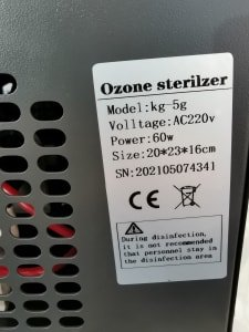 Lot of ozone generator x5 pcs
