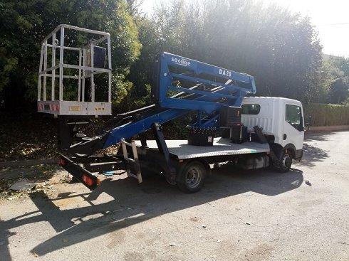 Camión cesta usado 20 m Socage DA20