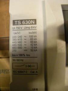 KTURBO INC. TS 630N 20x Circuit breaker