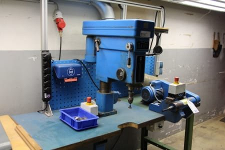 Work Table with Table Drilling Machine and Grinding Device