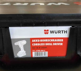 WURTH BS 18A LIGHT Cordless Drill Driver