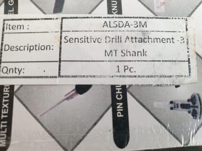 ASSORTS Sensitive Drill Attachment MT3 drill attachment
