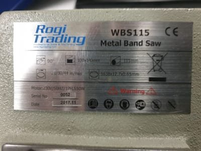 ROGI WBS115 band saw