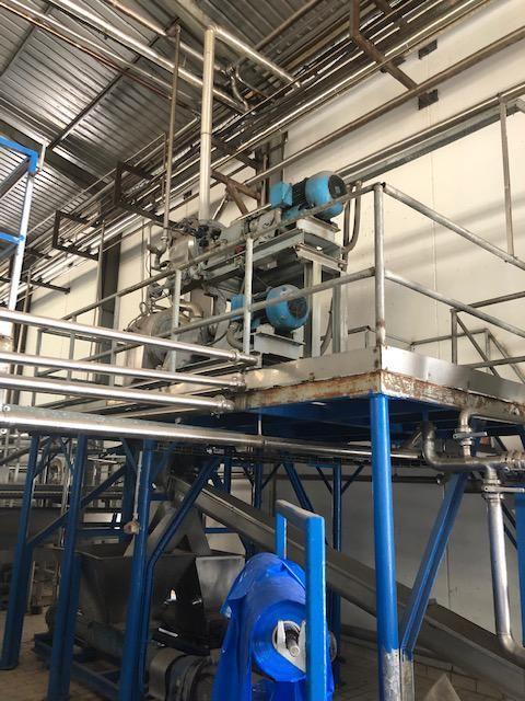 Línea de producción de pulpas de frutas