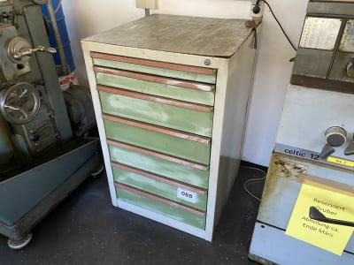 Workshop Pull-Out Drawer Cabinet with Contents
