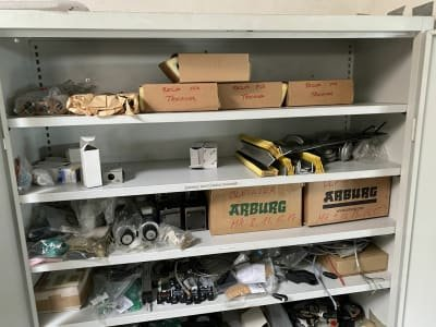 Workshop Cabinet with Spare Parts for Plastic Casting Machines
