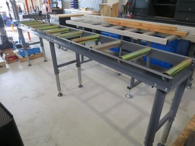 Roller conveyor with stop WMT 3000/Anschlag