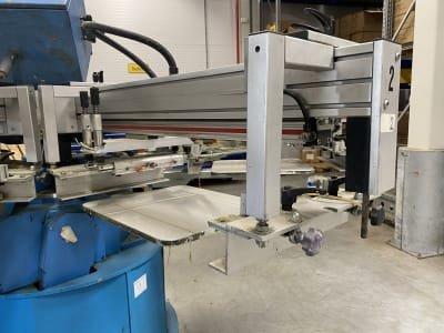 HEINZ WALZ V-C 5/8 Carousel screen printing machine