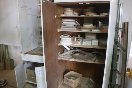 Lot Cabinets with Contents