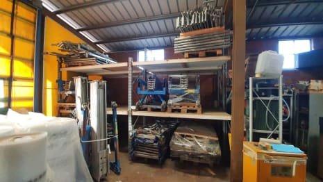 Shelf with trestles
