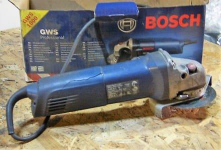 BOSCH, BOSCH, HITACHI, SACTO 2 x GWS 1000, GBM 10-2 RG, G13S, CNX70 Lot of hand tools