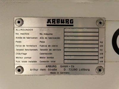 Inyectora de plástico ARBURG ALLROUNDER SELECTA 420 S 600-150