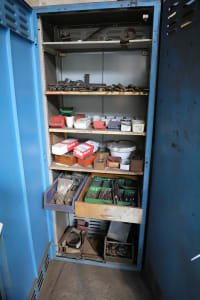 Workshop Cabinet with Content