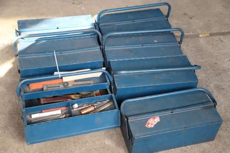 Lot of Metal Tool Boxes
