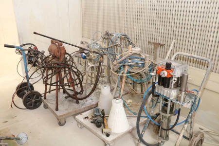 Lot of airless paint pumps