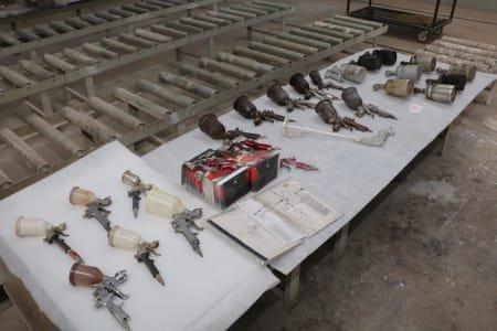 Lot of paint guns