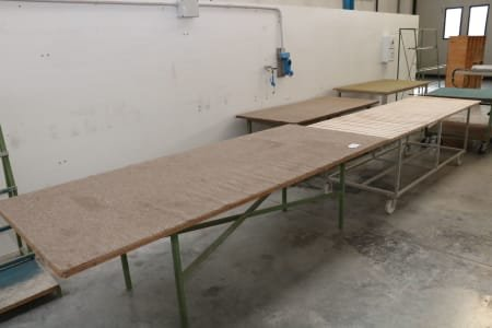 Lot of workbenches and trolleys