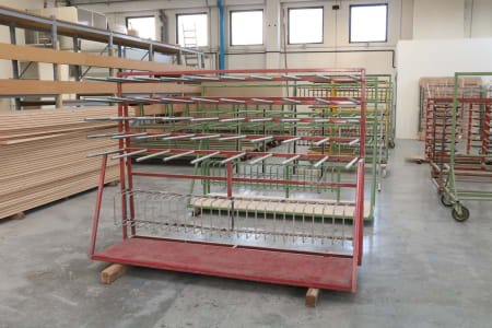 Lot of trolley and racks