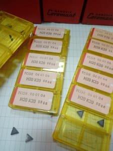 SANDVIK TCGR H20K20 Hard metal plates and holder