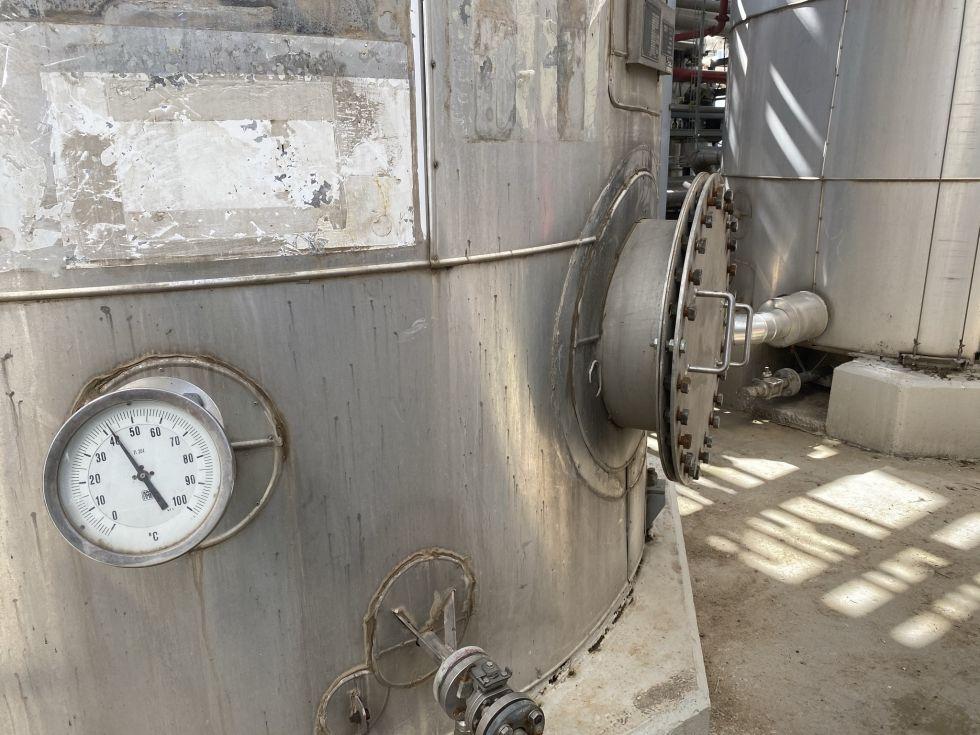 Deposito apq acero inoxidable 304 40.000 litros con serpentin de segunda mano