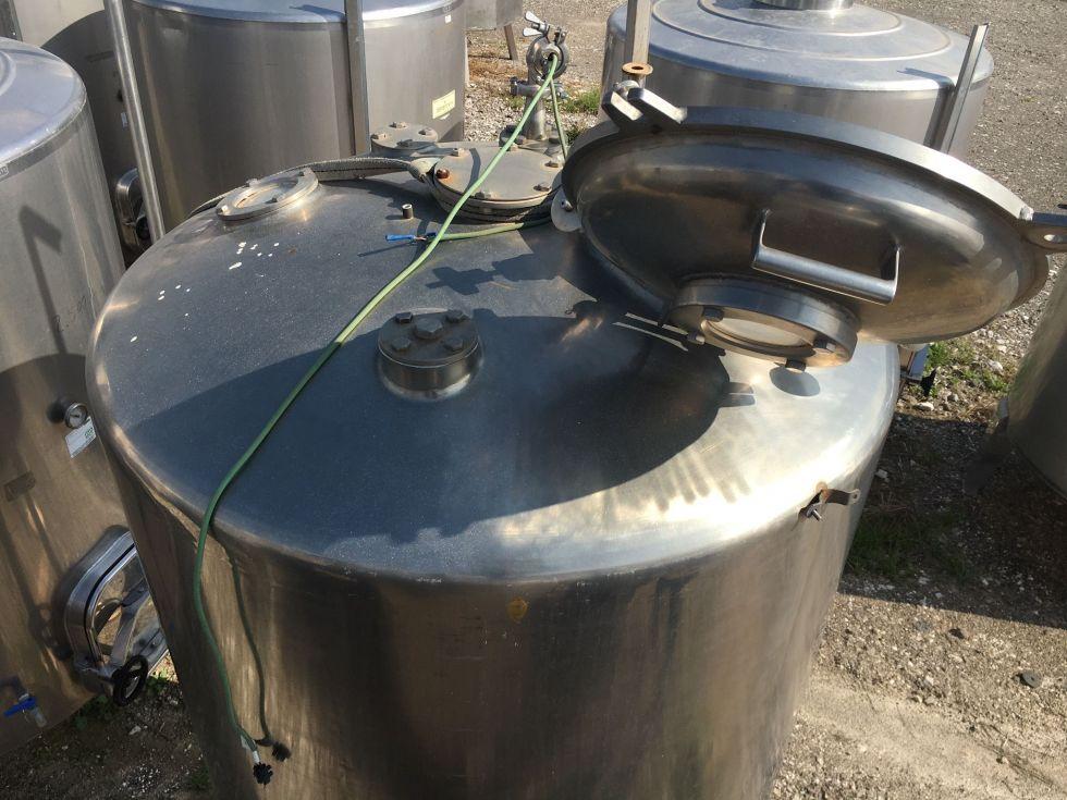 Depósito 2.000 litros con agitador ATEX en acero inoxidable