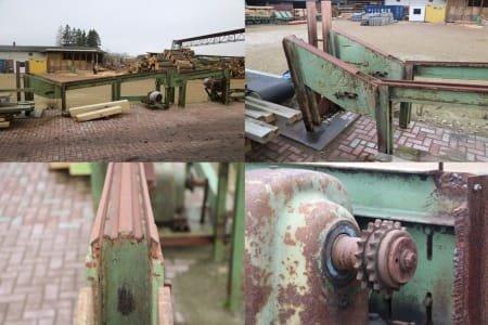 Aserradero / Sierra de cinta para troncos reacondicionada NIENKEMPER VBS 16 con carro de troncos tipo BWH 10