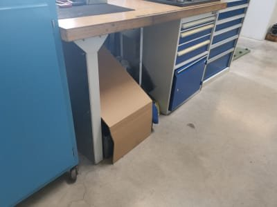 Workbench with Milling Machine Accessories