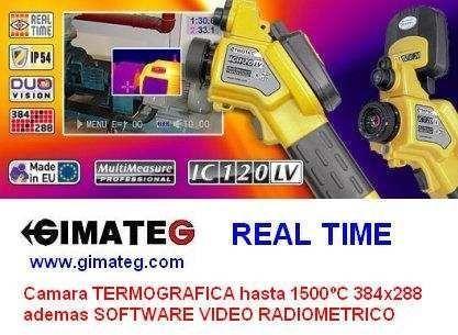 Camara termografica 1500ºc trotec 384x288 gimateg