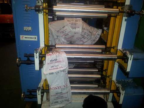 Linea de fabricacion de bolsas de plastico