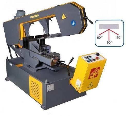 Sierra de cinta semi-automatica de gran capacidad