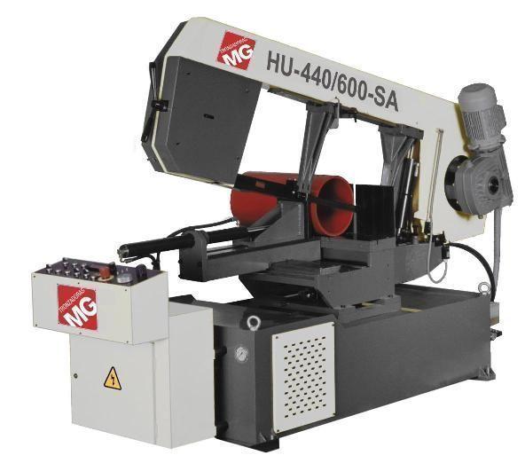 Sierra de cinta semi-automatica con variador electrónico y regulador de presión de corte