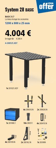 Mesa para soldadura