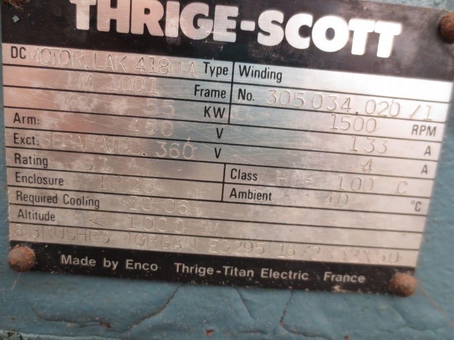 GTE-697 Motor c.v. de 65 c.v. de 460 v inducido y 380 v. de excitación 135 Ap. A 1500 r.p