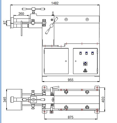 Bordonadora motorizada para 2,5mm