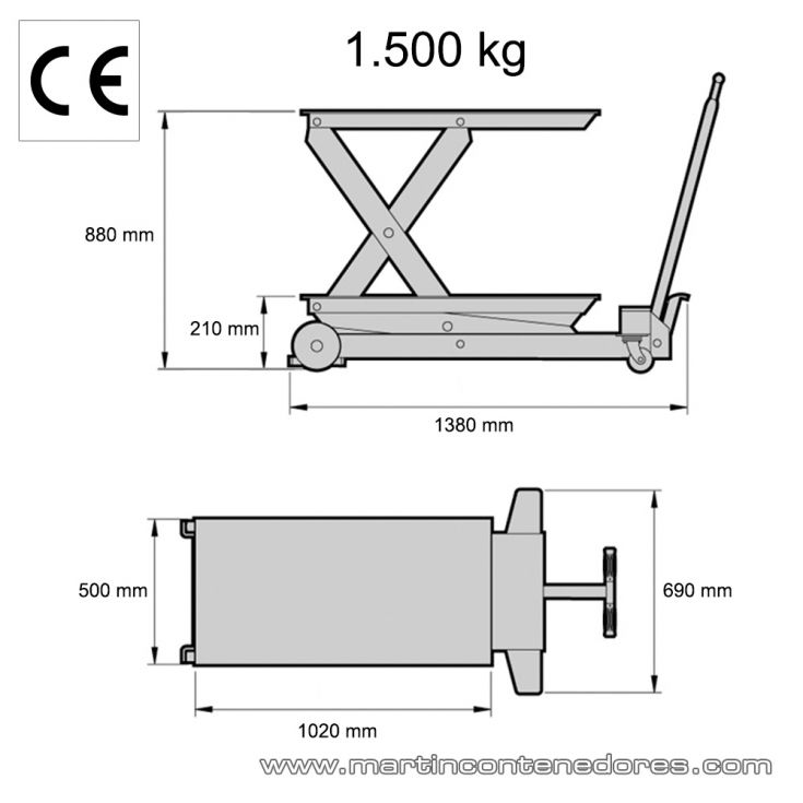Mesa elevadora 1.500 kg