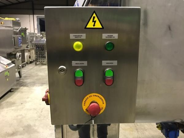 Mezcladora de bandas en acero inox horizontal 1.000 litros.