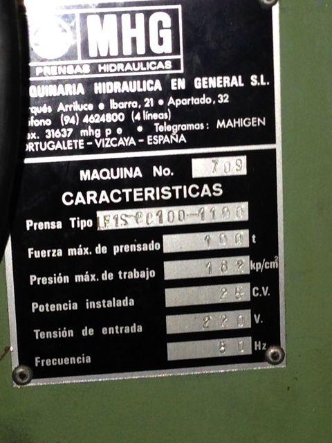 Prensa Hidraulica MHG LE 1-S