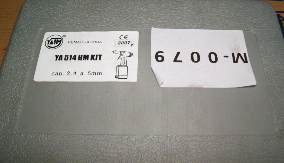 Remachadora neumática 2,4 a 5 mm.